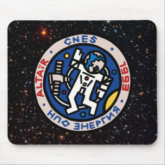 Mir-Altair Mission Patch Mouse Pad