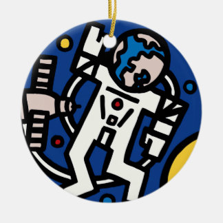 Mir-Altair Mission Patch Double-Sided Ceramic Round Christmas Ornament