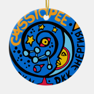 Mir-Cassiopee  Mission Patch Logo Ceramic Ornament