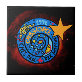 Mir-Cassiopee  Mission Patch Logo Ceramic Tile