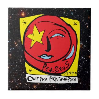 Mir-Perseus Mission Patch Logo Ceramic Tile