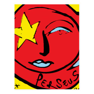 Mir-Perseus Mission Patch Logo Postcard