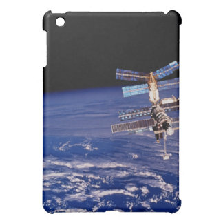 Mir Space Station floating above the Earth iPad Mini Cover