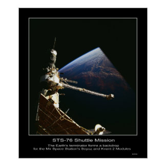 Mir Space Station's Soyuz and Kvant 2 Posters
