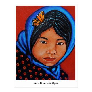 """Mira Bien mis Ojos"" Postcard"