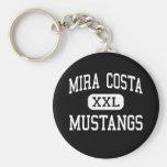 Mira Costa - Mustangs - High - Manhattan Beach Keychain