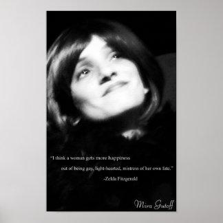 """Mira Gutoff """"Flapper"""" Poster"""