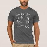 Mira, siente, actúa 50.a camiseta del cumpleaños