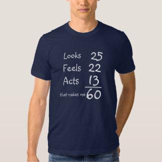 Mira, siente, actúa 60.a camiseta del cumpleaños remera