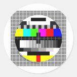 Mira TV Pegatina Redonda