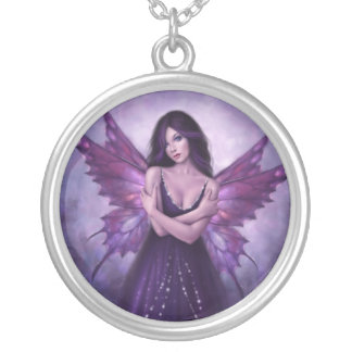 Mirabella Purple Butterfly Fairy Necklace