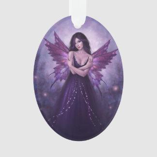 Mirabella Purple Butterfly Fairy Oval Ornament