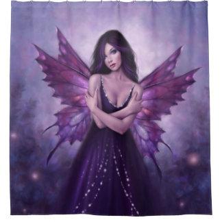 Mirabella Purple Butterfly Fairy Shower Curtain