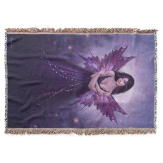 Mirabella Purple Butterfly Fairy Throw Blanket