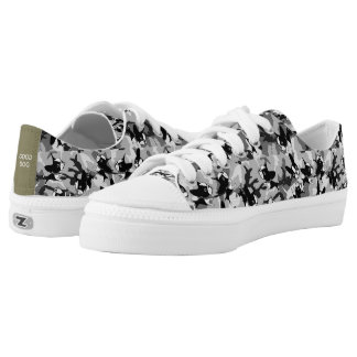 Mirabelle the boston terrier CAMO lace up's Low-Top Sneakers