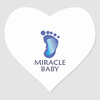 Miracle Baby Heart Sticker