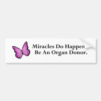 Miracle Butterfly Bumper Sticker