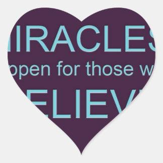 Miracle Happen.jpg Heart Sticker