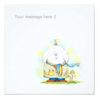 "Miracle 5.25"" Square Invitation Card"
