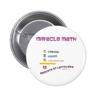 Miracle Math 2 Inch Round Button