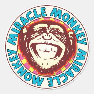 Miracle Monkey Classic Round Sticker