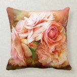 Miracle Of A Rose - Peach - Art Designer Pillow