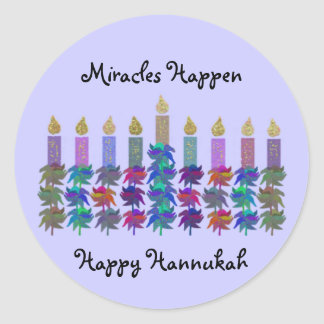 Miracle of Hannukah Stickers