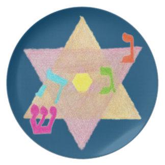 Miracle of Hanukkah Remembrance Melamine Plate