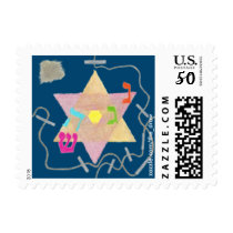 Miracle of Hanukkah Small Postage Stamps