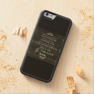 Miracle of Love Carved Maple iPhone 6 Bumper Case