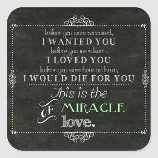 Miracle of Love Square Sticker