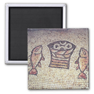 Miracle of the Bread and the Fishes 2 Inch Square Magnet