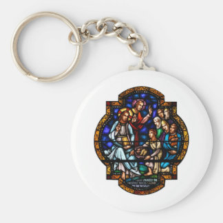 Miracle of the Loaves and Fish Stained Art Keychain