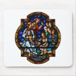 Miracle of the Loaves and Fish Stained Art Mouse Pad