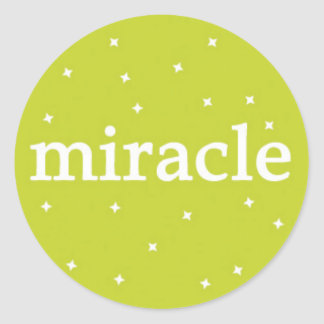 Miracle on Green Classic Round Sticker