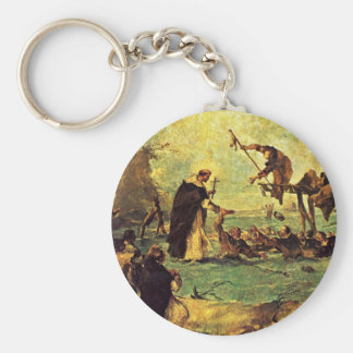 Miracle Rescue By A Dominican Saint Key Chain