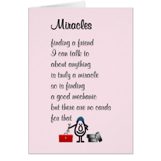 Miracles - a funny Thinking of You poem Card