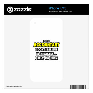 Miracles and Accountants ... Funny iPhone 4 Skin
