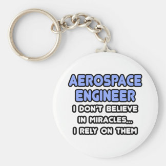 Miracles and Aerospace Engineers Basic Round Button Keychain