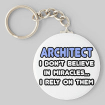 Miracles and Architects Basic Round Button Keychain