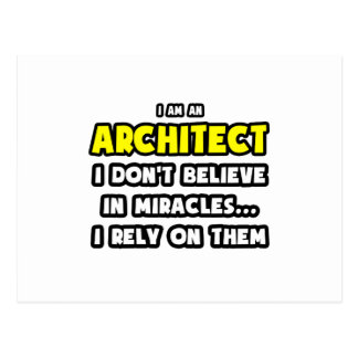 Miracles and Architects Funny Postcard