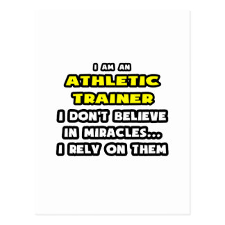 Miracles and Athletic Trainers ... Funny Post Cards