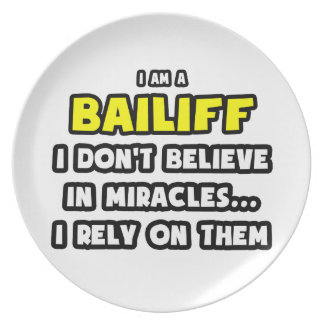 Miracles and Bailiffs ... Funny Dinner Plates