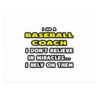 Miracles and Baseball Coaches ... Funny Postcard