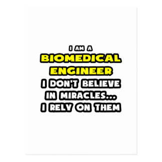 Miracles and Biomedical Engineers ... Funny Postcard