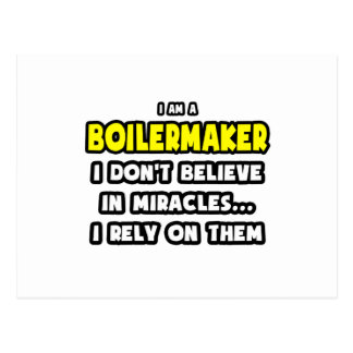 Miracles and Boilermakers ... Funny Postcard