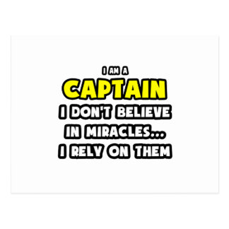 Miracles and Captains ... Funny Postcard
