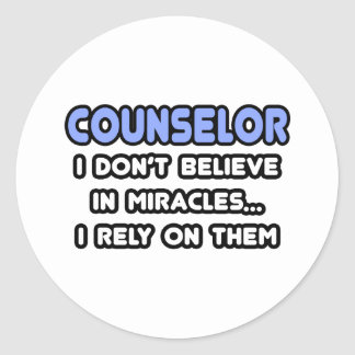 Miracles and Counselors Classic Round Sticker