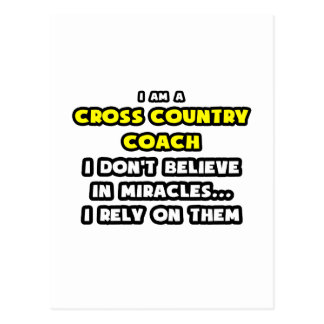 Miracles and Cross Country Coaches ... Funny Postcard