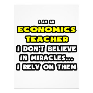Miracles and Economics Teachers ... Funny Personalized Letterhead